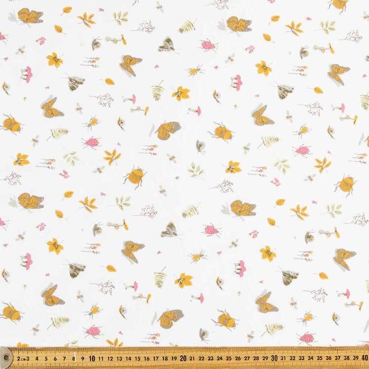 Bugs & Butterflies Multipurpose Cotton Fabric
