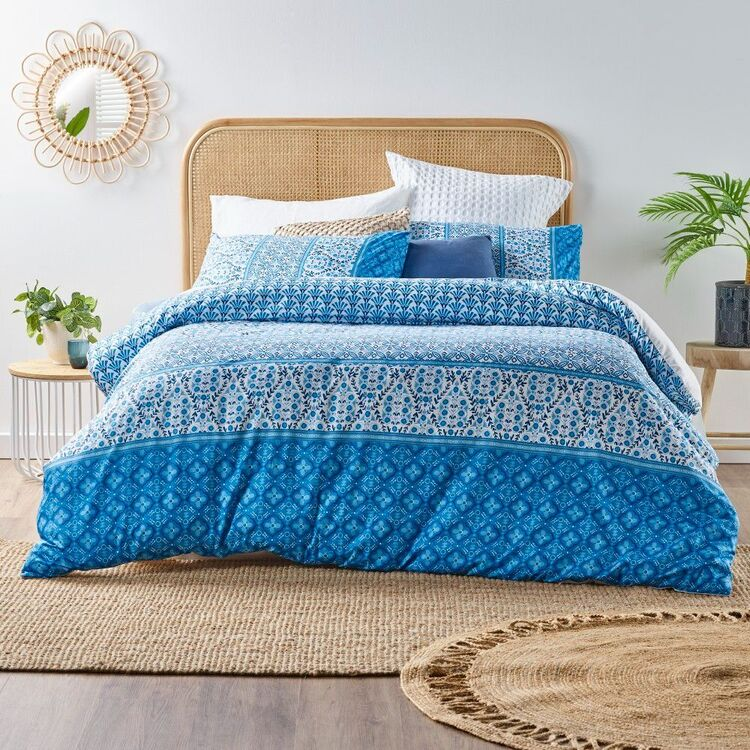 Emerald Hill Oceanic Quilt Cover Set Blue