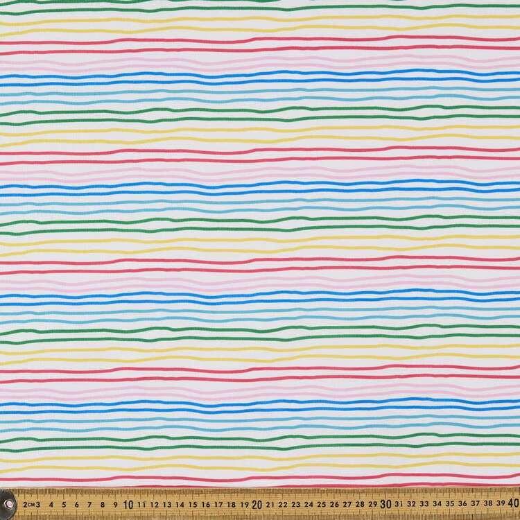Party Play Stripe Printed Taffeta Fabric