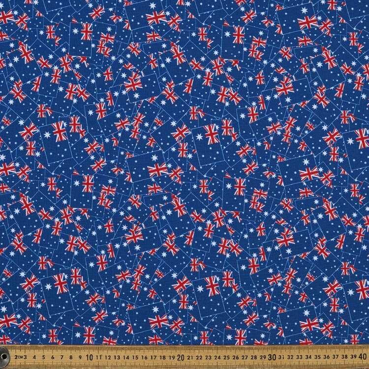 Party Play Aussie Flag Printed Taffeta Fabric
