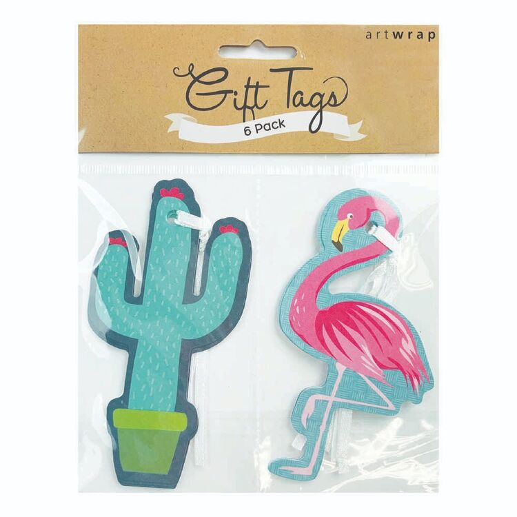 Artwrap Tropical Gift Tags 6 Pack