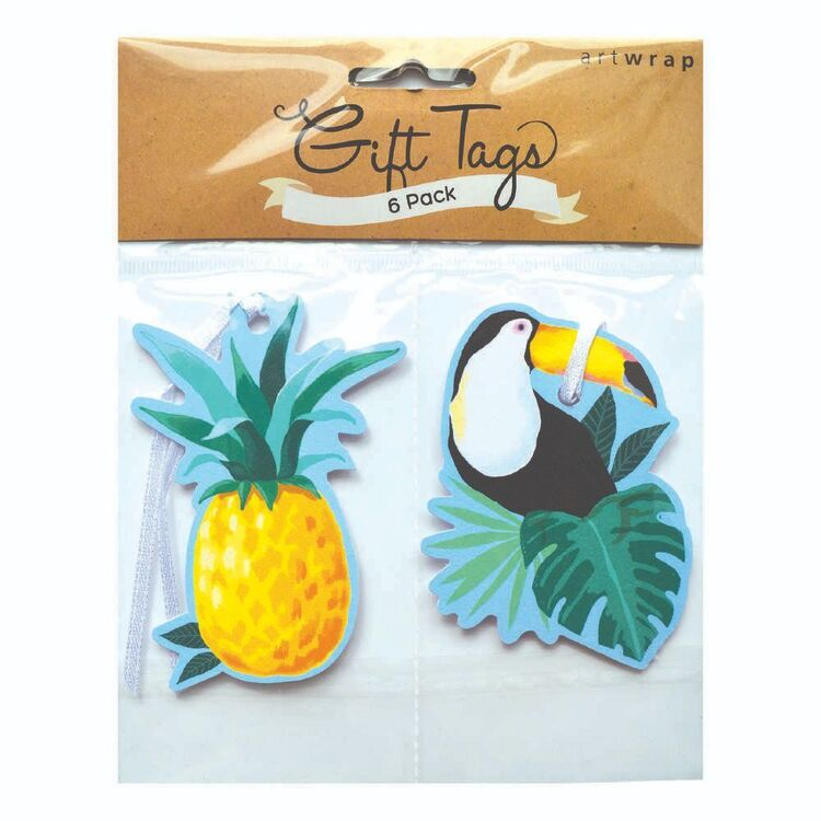 Artwrap Toucan & Pineapple Gift Tags 6 Pack