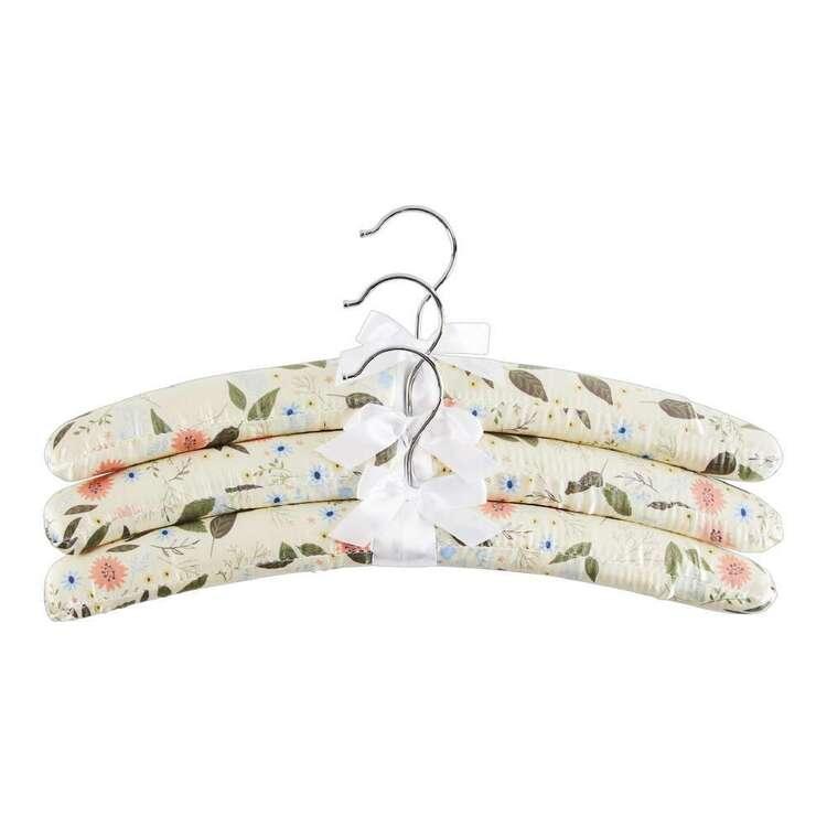 Satin Coat Hangers Meadow 3 Pack