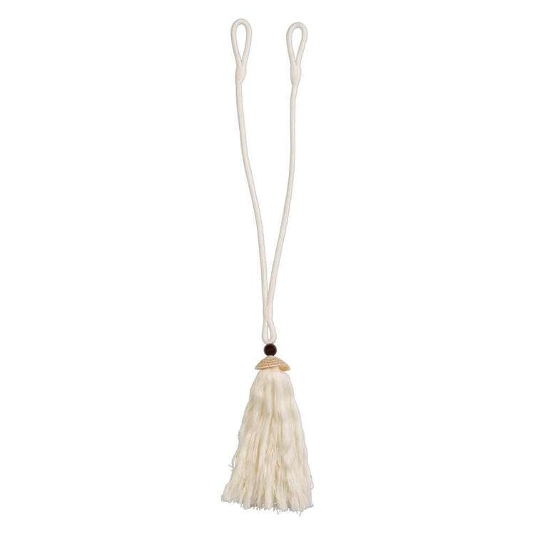 KOO Seashell Cotton Tassel Tieback