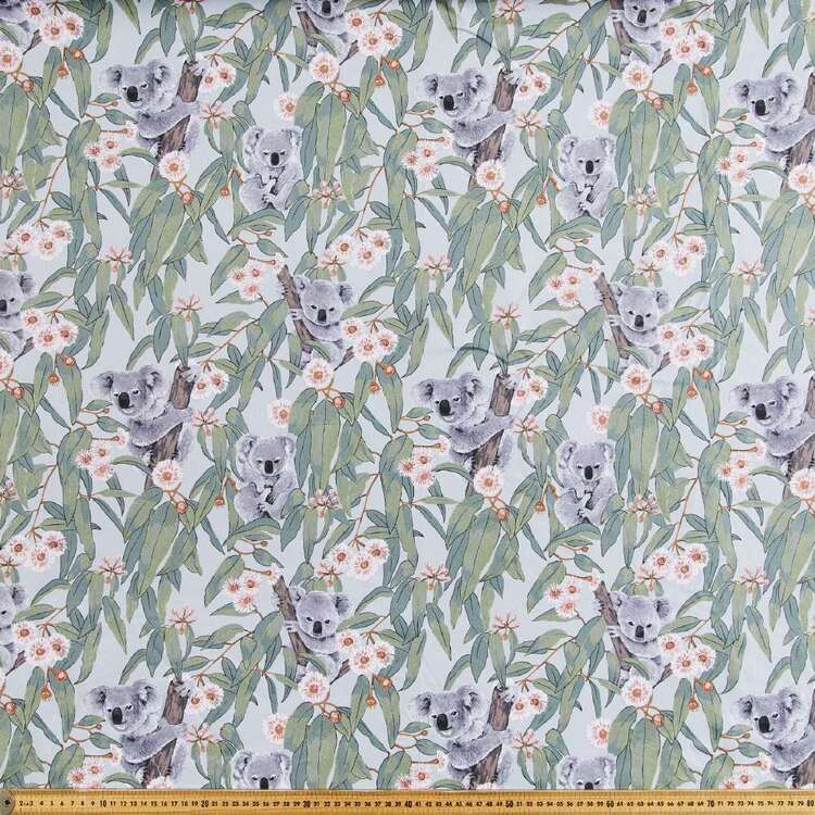 Koalas Printed Cotton Drill Fabric
