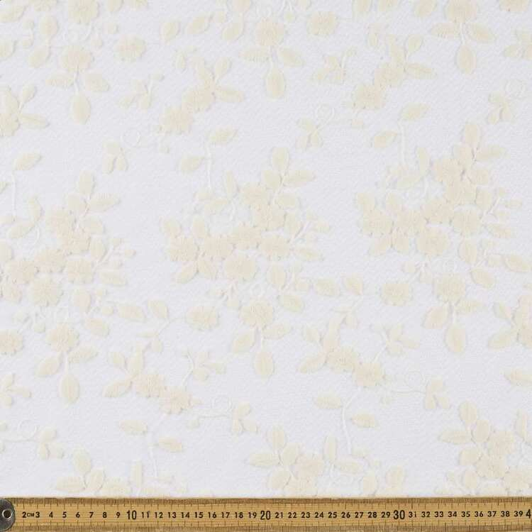 Embroidered Nets Cotton Nylon Fabric