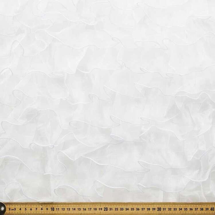 Plain Ruffled Organza Fabric