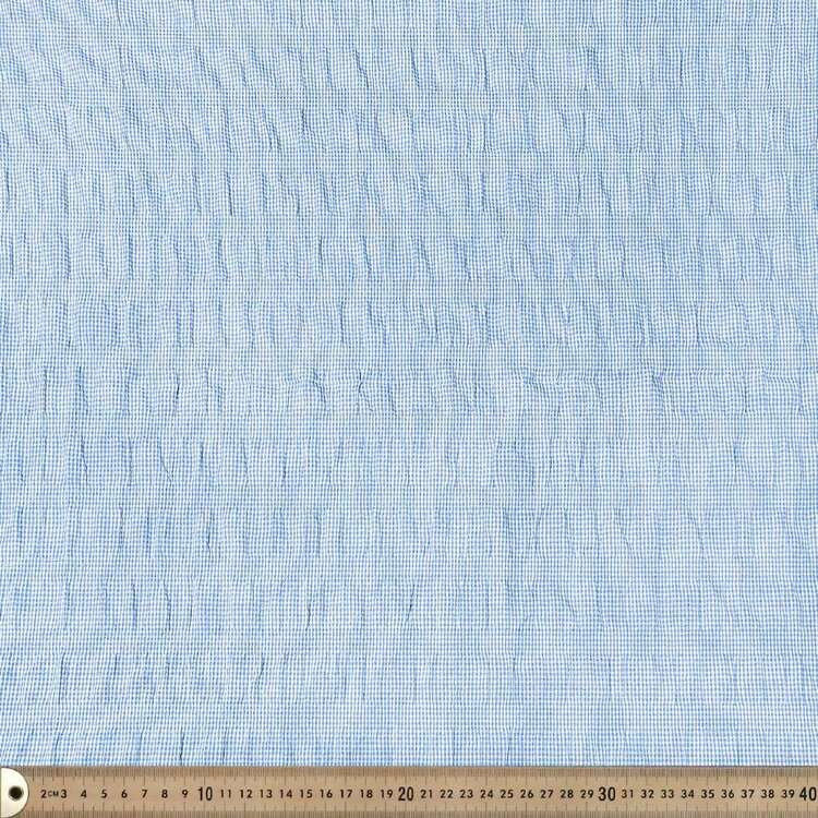 Gingham Poly Shirred Fabric