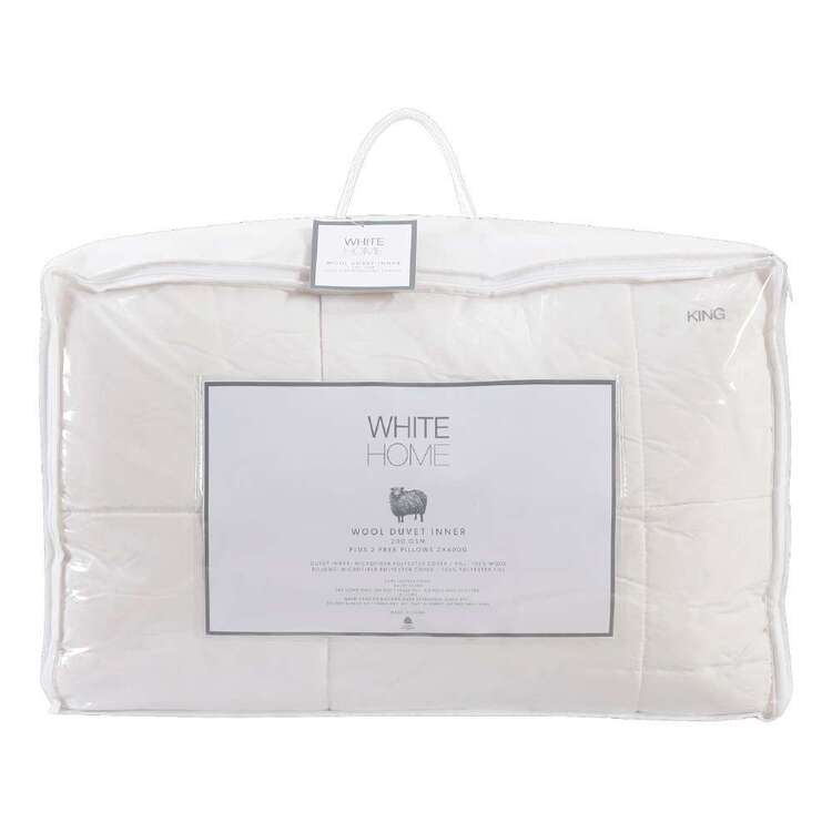 White Home New Zealand Wool Duvet Inner Pack