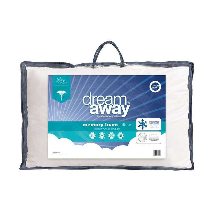Dream Away Gel Infused Memory Foam Standard Pillow