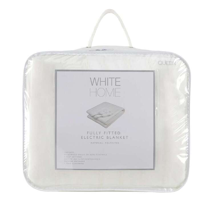 White Home Fully Fitted Electric Blanket