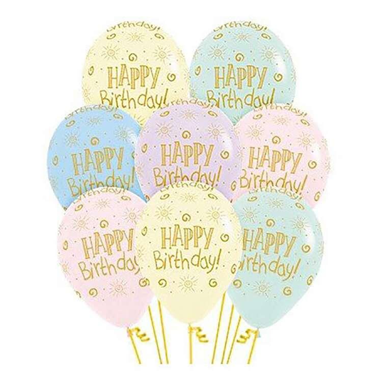 Anagram Happy Birthday Sunshine Matte Balloons 12 Pack