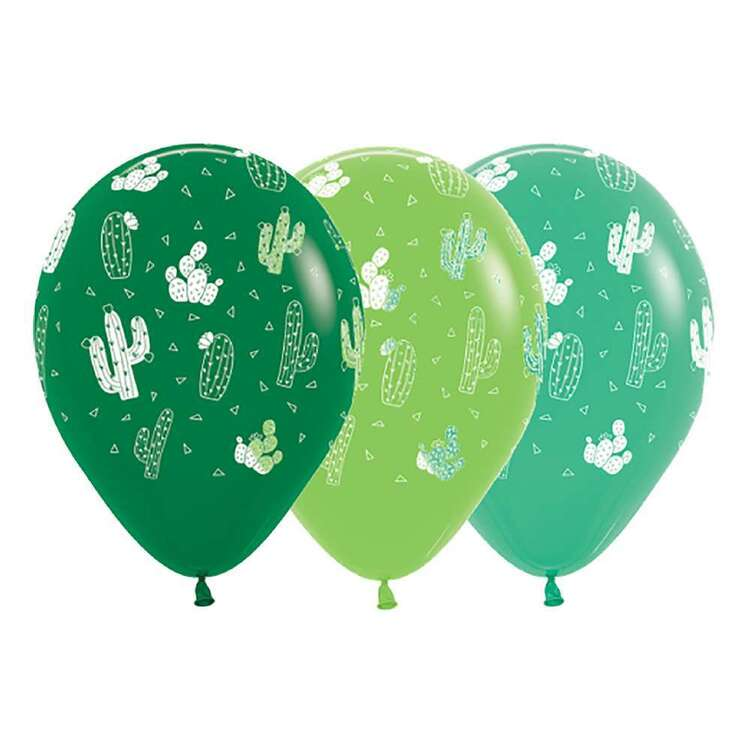 Anagram Cactus Latex Balloon 12 Pack