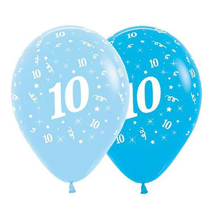 Anagram Age 10 Latex Balloon 6 Pack