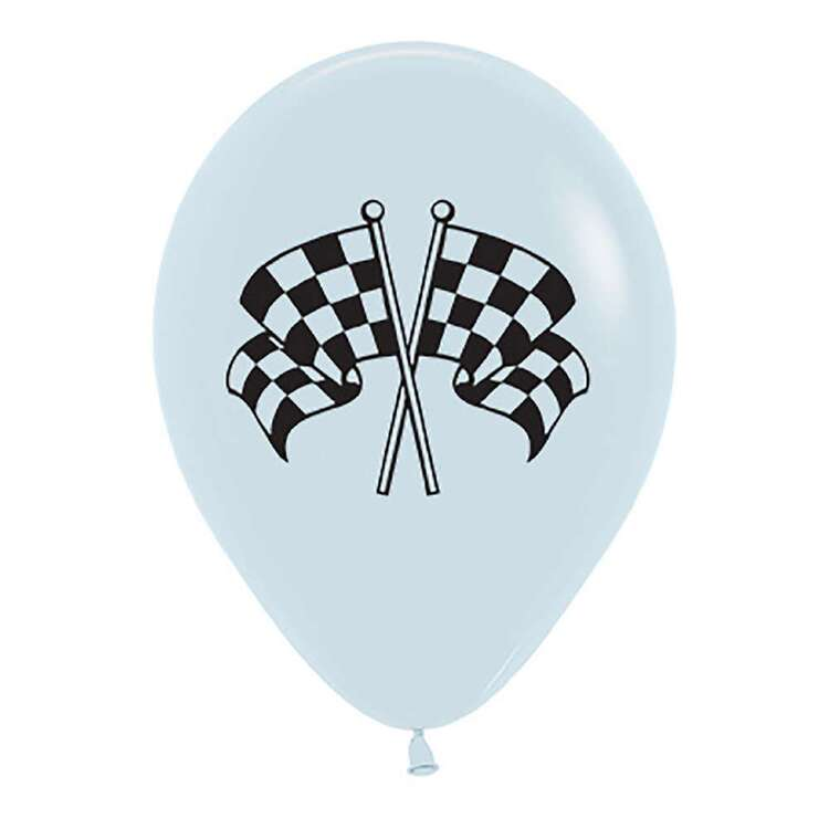 Anagram Racing Flags Latex Balloons 6 Pack