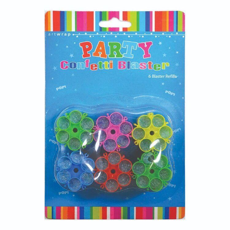 Artwrap Confetti Blaster Refills 6 Pack