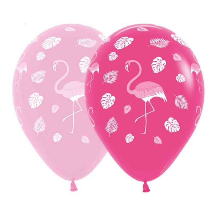 Anagram Flamingo Balloons 12 Pack