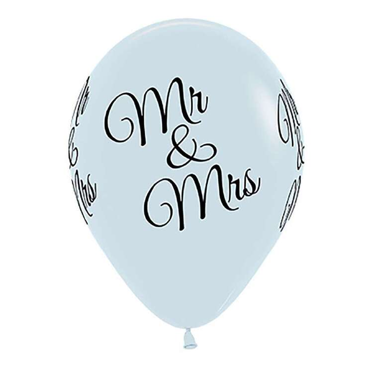 Anagram Mr & Mrs Fashion Latex Balloon 6 Pack