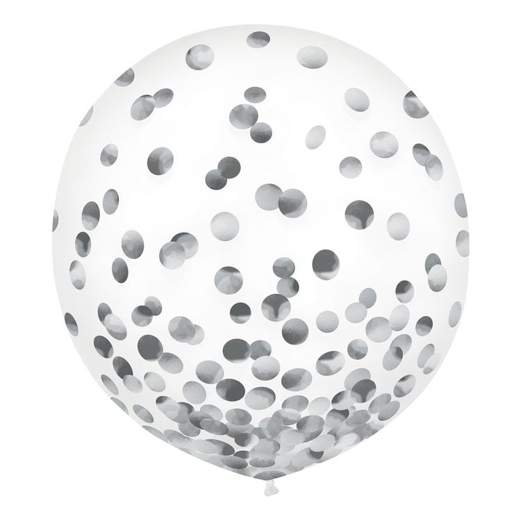 Anagram 60 cm Latex Confetti Balloon