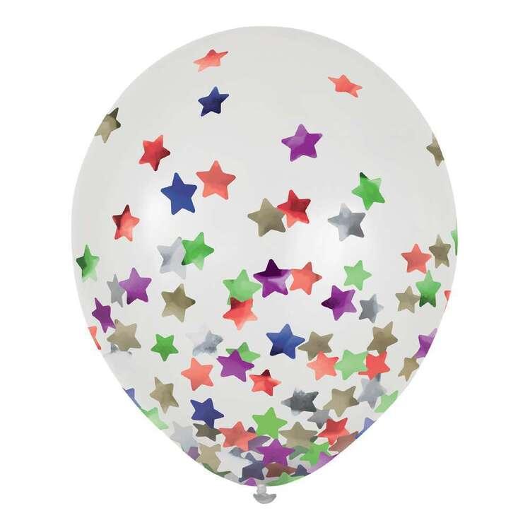 Anagram Star Confetti Latex Balloon