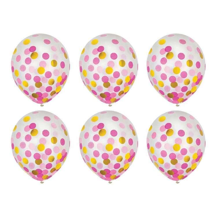 Anagram 30 cm Latex Confetti Balloon 6 Pack