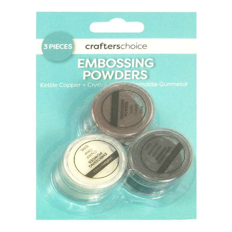 Crafters Choice Kettle Copper, Clear & Gunmetal Embossing Trio Pack