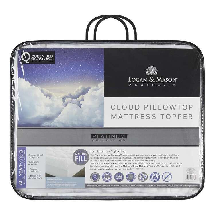 Logan & Mason Platinum Collection Luxury Cloud Topper