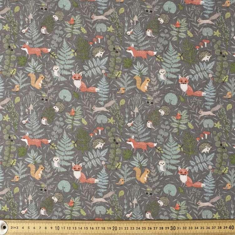 Woodsfolk Printed 112 cm Flannelette Fabric