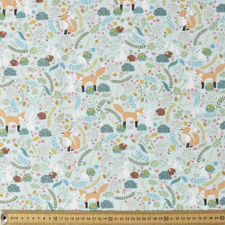 Forest Friends Printed 112 cm Cotton Flannelette Fabric