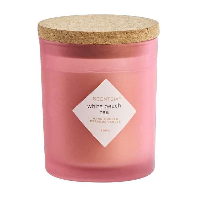 Scentsia White Peach Tea Candle With Cork Lid
