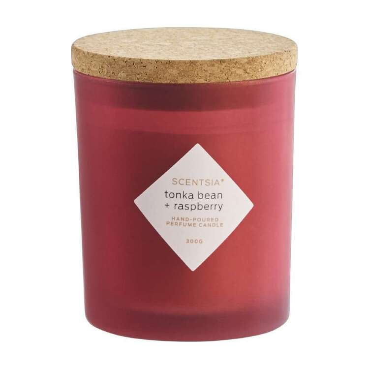 Scentsia Tonka Bean & Raspberry Candle With Cork Lid