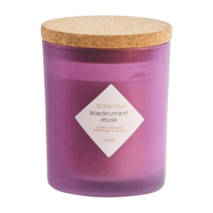 Scentsia Blackcurrant Musk Candle With Cork Lid