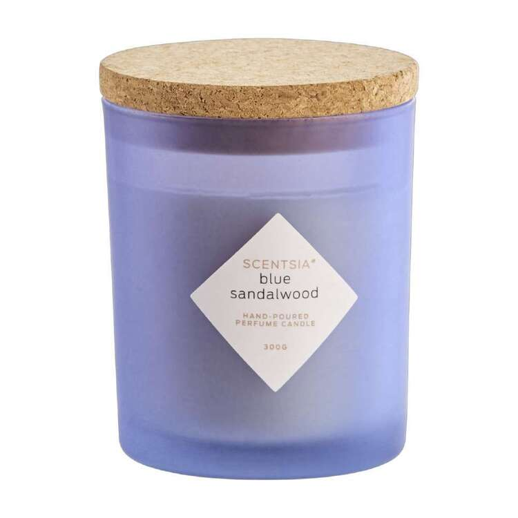Scentsia Blue Sandalwood Scented 300g Candle With Cork Lid