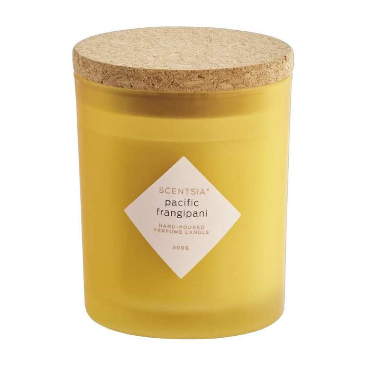 Scentsia Pacific Frangipani Scented 300g Candle With Cork Lid