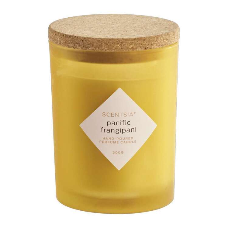 Scentsia Pacific Frangipani Scented 500g Candle With Cork Lid
