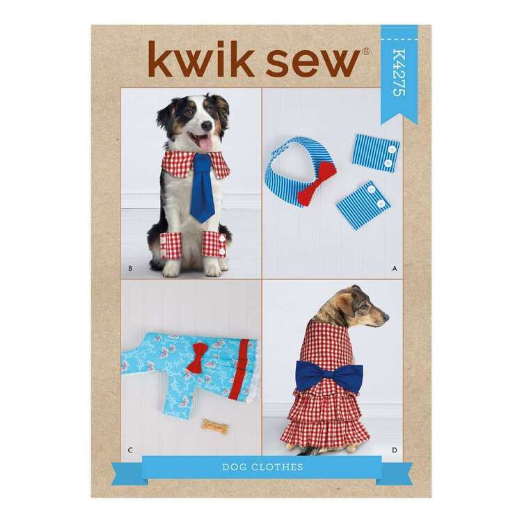Kwik Sew Pattern 4275 Pet Collars, Cuffs & Dresses