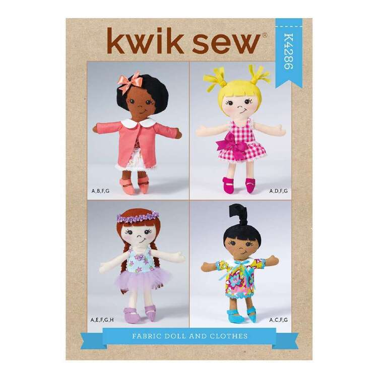 Kwik Sew Pattern 4286 Fabric Doll & Clothes