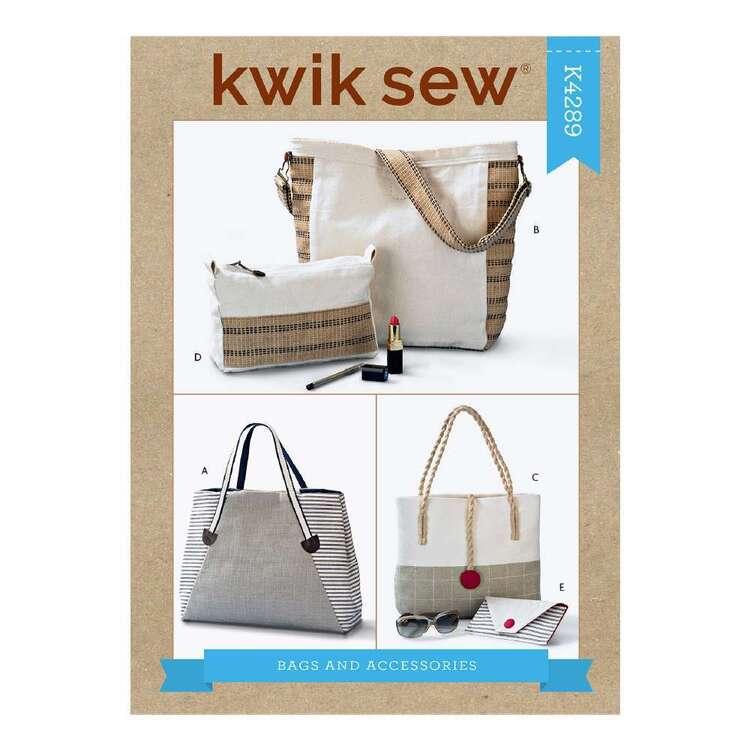 Kwik Sew Pattern 4289 Tote Bag & Accessories