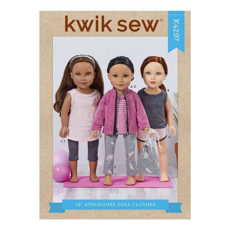 Kwik Sew Pattern 4297 18in Athleisure Doll Clothes