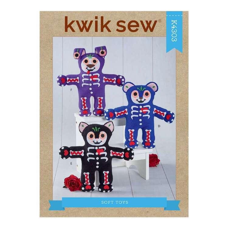 Kwik Sew Pattern 4303 Soft Toys: Bear, Cat & Dog