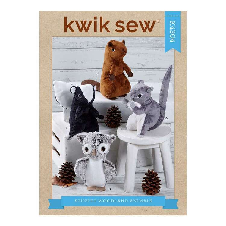 Kwik Sew Pattern 4304 Stuffed Woodland Animals