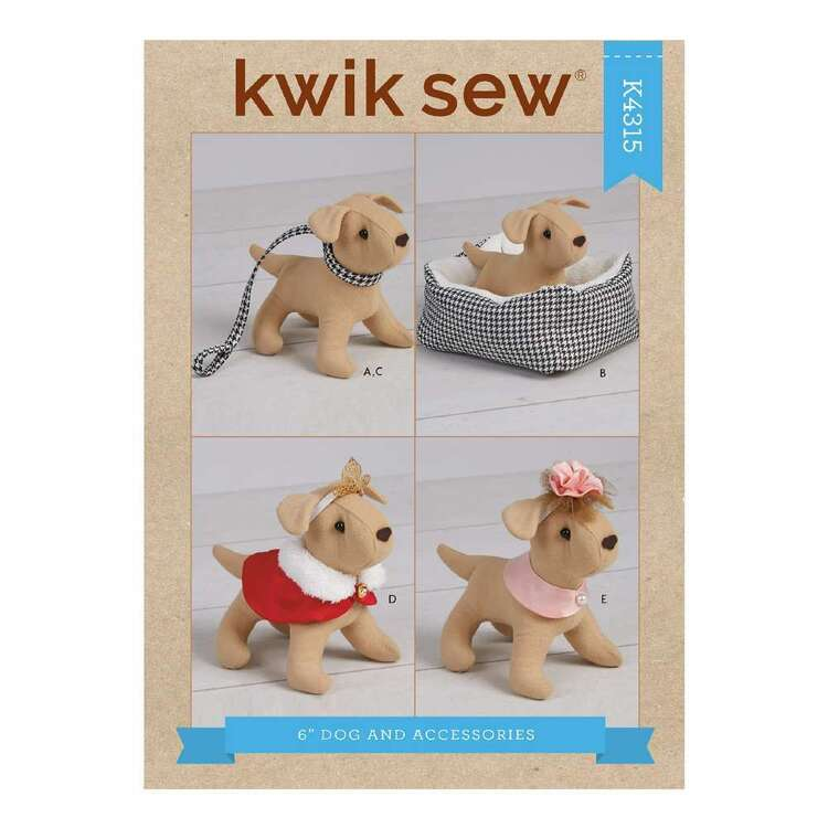 """Kwik Sew Pattern 4315 6"""" Dog & Accessories for 18"""" Doll"""