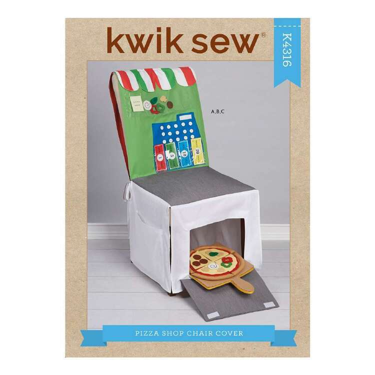 Kwik Sew Pattern 4316 Pizza Shop Chair Cover & Accessories