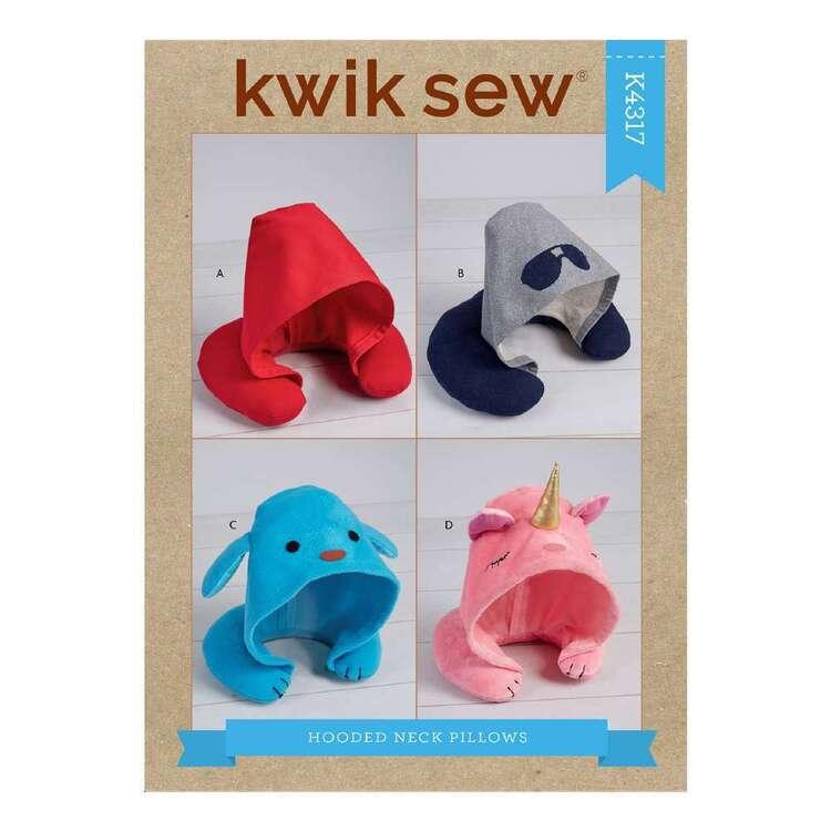Kwik Sew Pattern 4317 Adults' & Kids' Hooded Travel Neck Pillows