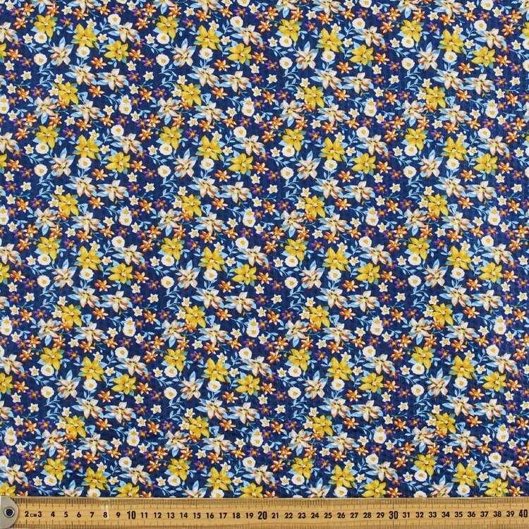 Floral #5 Printed Crinkle Seersucker Fabric