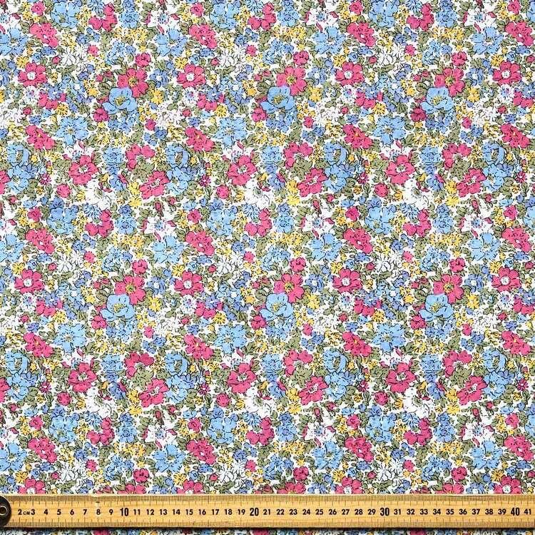 Floral #1 Printed Crinkle Seersucker Fabric