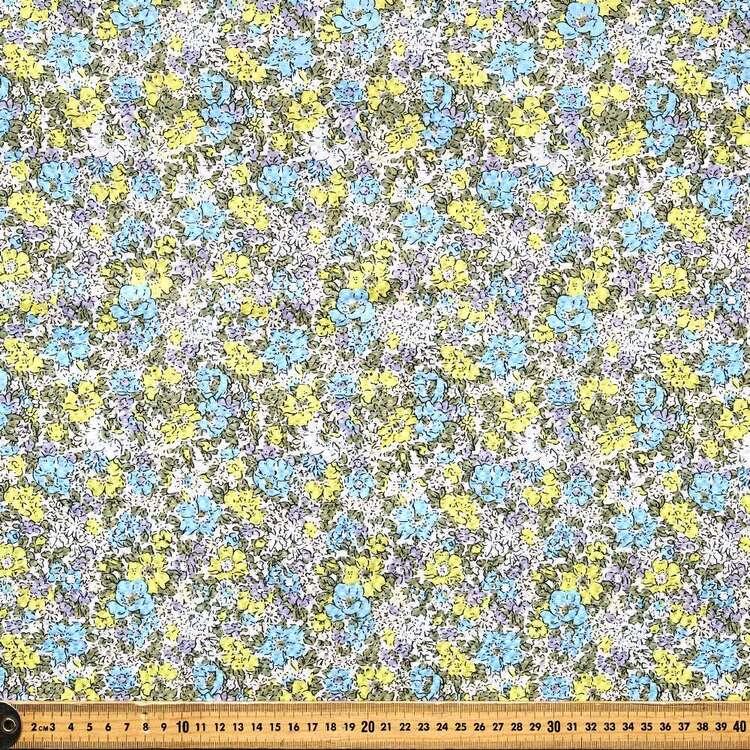 Floral #3 Printed Crinkle Seersucker Fabric