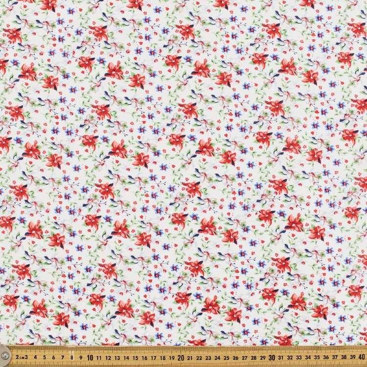 Floral #6 Printed 150 cm Crinkle Seersucker Fabric