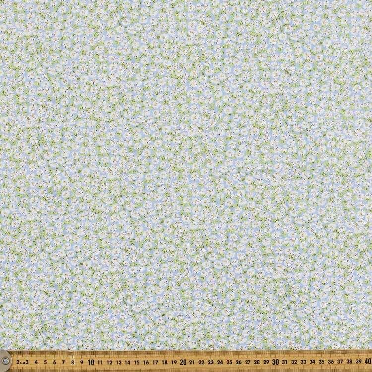 Floral #4 Printed Crinkle Seersucker Fabric