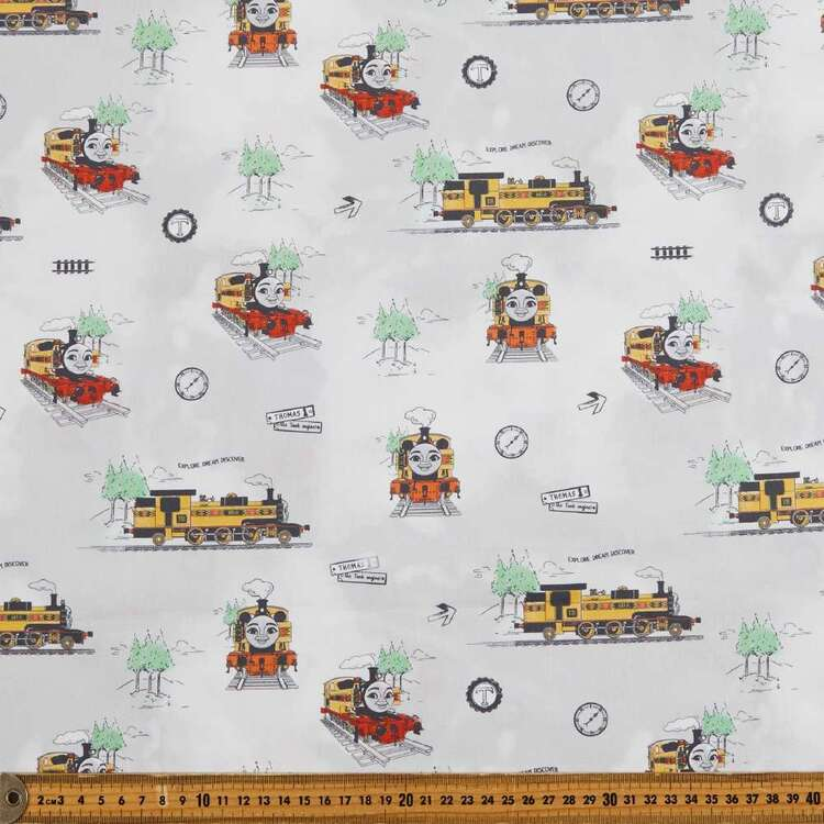 Thomas The Tank Engine Nia Printed Cotton Sheeting